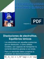 Disoluciones Acuosas y Equilibrio Químico