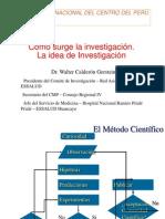 Clase UNCP - Idea de Investigación