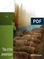 9 Green Nature Images PowerPoint Title Set