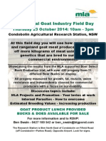 Goat Industry Field Day 23 October 2014 Copy