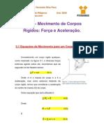 Notas de Aula 3 - Movimento Plano de Corpos Rígidos - Força e Aceleração.