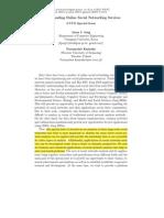 Understanding Online Social Networking Services - J. J. Jung