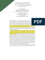 Advances on Social Network Applications J. Jung