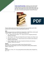 Contoh Penulisan Daftar Pustaka Yang Baik Dan Benar