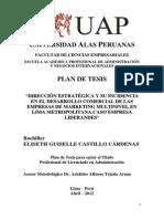 Universidad Alas Peruanas Plsn de Tesis Eli