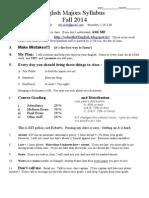 Syllabus Eng Maj Fall 2014 v.2