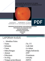 Od Retinopati diabetik proliferatif dan OS Retinopati diabetik non proliferatif disertai CSME