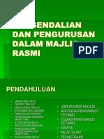 Pengendalian Dan Pengurusan Dalam Majlis Rasmi
