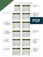 2014 2015 shb endeavour calendar