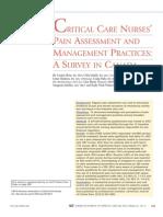 Critical Care Pain Management