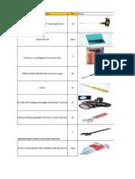 TOOLS LIST - Commissioning I & C