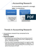 Trends in Accounting Research