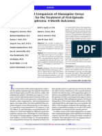Randomized Comparison of Olanzapine Versus Risperidone for the Treatment of First-Episode Schizophrenia