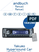 Manual Yakumo Hyper Sound Car MUTLILANGUAGES