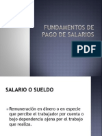 3. Fundamentos de Pago de Salarios