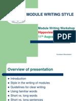 Style in Module Writing