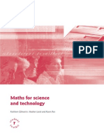 Maths for Science and Technology Toolkit