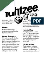 Yahtzee Instruction Manual