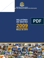 Relatorio Atividades Fnde 2009