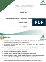 Ing Roberto Vicuña-consideraciones Tácticas y Estratégicas en Operaciones Mineras