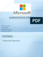Estrategia de Diversificacion en Microsoft