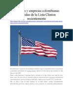 Personas y Empresas Colombianas Excluidas de La Lista Clinton Recientemente