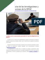 Consecuencias de Las Investigaciones y Citaciones de La OFAC