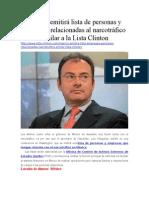 México Emitirá Lista de Personas y Empresas Relacionadas Al Narcotráfico Similar a La Lista Clinton