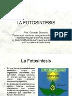 La Fotosintesis Gdominici