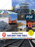 South Zone Railway time table 2014-15
