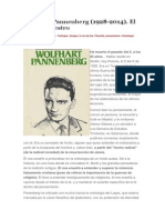 Wolfhart Pannenberg (1928-2014). El Último Maestro