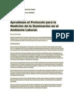 PROTOCOLO PARA LA MEDICION DE LA ILUMINACION EN EL AMBIENTE LABORAL.pdf