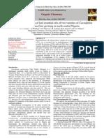 2012_Elixir Organic Chemistry Journal 44-7085-7087_Usmanet al_Chemical constituents of Leaf Essential Oils of two varieti~1