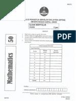 Soalan Percubaan PT3 Kedah Matematik 2014