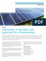 DNV GL Moving the Solar Industry Forward Brochure