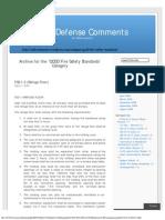QCDD  Civil Defense Comments