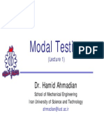 Modal Testing Lectures 1-10