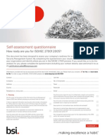 BSI ISOIEC27001 Assessment Checklist UK En