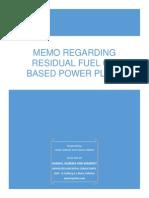 Memo - Residual Fuel Oil v. 1.1