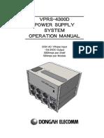 VPRS-4300D운용매뉴얼(100122) Eng