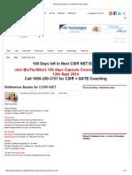 Reference Books for CSIR-NET _ BioTecNika