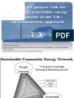 Early stage project risk for community energy in the UK - an econometric approach