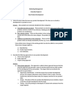 Questions Chapter New Product Development