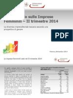135_Report Imprese Femminili II-2014