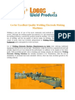 Welding Electrode Equipment and Machinery Manufacturers
