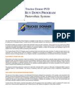 Truckee Donner P U D - Photovoltaic BuyDown Program