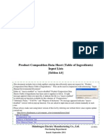 Composition Data Sheet Shindengen