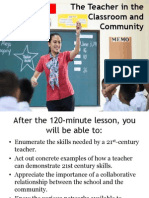 The Teacher in the Classroom and Community