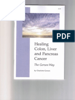 Healing Colon Liver and Pancreas Cancer - The Gerson Way