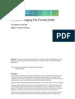 Windows Imaging File Format